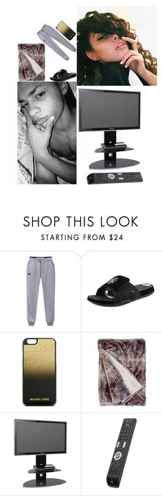 """Aha Look At Me An Babe"" by my-love-anons ❤ liked on Polyvore featuring Jordan Brand, MICHAEL Michael Kors and Alphason"