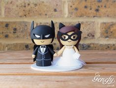 Batman and Catwoman wedding cake topper by Genefy Playground  https://www.facebook.com/genefyplayground