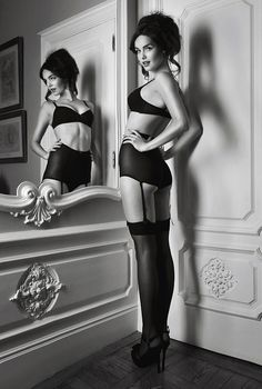 who doesn't want to wear vintage lingerie a la dita von teese and strut in a gorgeous armoir?  um, noone