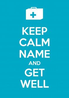 Keep Calm Get Well | Personalised Get Well Card | £2.99