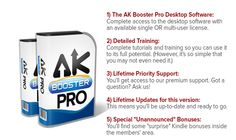 AK Booster Pro is a great desktop software that makes kindle market Research, keyword Research, Book Promotion amazingly fast and easy with just few clicks of your mouse. AK Booster Pro designed to cut users average research time by 95% download for free contact http://seofounders.info team
