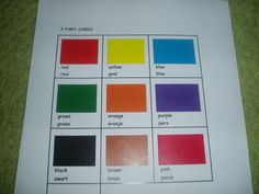 Colours in English and Afrikaans Worksheets For Kids, English Words, Afrikaans, Orange And Purple, Cassie, Black And Brown, Colours, Learning, Cards