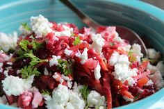 Earthy Beetroot & salty smooth feta salad