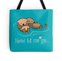 """""""Never let me go"""" Tote Bags by LunaSolvo 