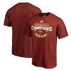 dd8f2f2a33 Fanatics Branded Iowa State Cyclones Cardinal 2017 Big 12 Men's Basketball  Tournament Champions T-Shirt