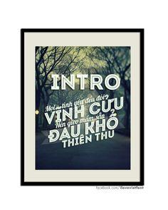 Font INTRO INLINE Tiếng Việt ( I Love Viet Font )