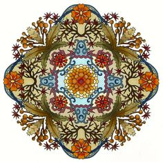 Mandala by CYNTHIA EMERLYE Coloring by Harold Suttles