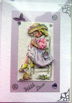 Lost in Thought HandCrafted 3D Decoupage Card  by SunnyCrystals, $3.55