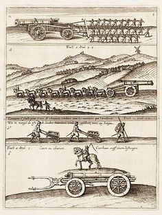 File:Transport of artillery early 17th century (Jean Théodore de Bry, 1614).jpg