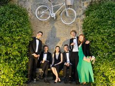 Because in Oxford you can park a bike anywhere. 2016 University College Ball - Image courtesy of and © Sam Cornish University College, Bridesmaid Dresses, Wedding Dresses, Oxford, Bike, Park, Summer, Fashion, Moda