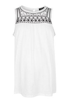 MATERNITY Embroidered Smock Top