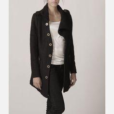 black coat by Miya Green