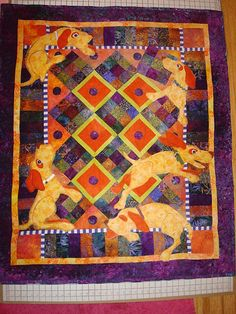 Ruff around the Edges Dog Quilt