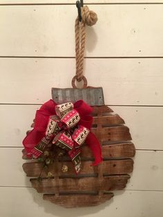 Rustic wood bell Christmas wall decor rustic Christmas