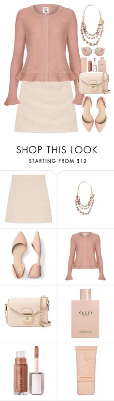 """Chic"" by gicreazioni ❤ liked on Polyvore featuring Gucci, Yumi, Longchamp, Maybelline and Christian Dior"