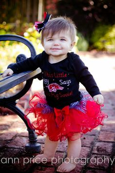 Omg, how cute is this!!  Hey, I found this really awesome Etsy listing at https://www.etsy.com/listing/112879268/razorback-outfit