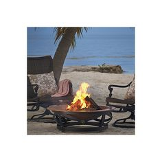 Roma Firepit (€365) ❤ liked on Polyvore featuring home, outdoors, outdoor decor, firepits & fireplaces, hearth, frontgate, outside fire pit, fire pit and outdoor patio decor