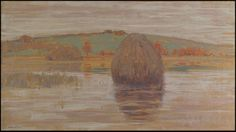 """Flood Tide, Ipswich Marshes, Massachusetts,"" Arthur Wesley Dow, ca. 1900, oil on canvas, 18 x 32"", private collection."