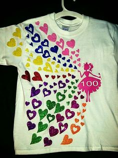 Your little Princess definitely needs this 100 Days of School shirt! It would look so cute with Glitter HTV! 100 Day Of School Project, 100 Days Of School, School Fun, School Projects, School Stuff, Kindergarten Shirts, Kindergarten Projects, 100 Day Shirt Ideas, 100days Of School Shirt