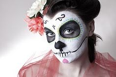 maquillatge Face Off, Sugar Skull, Halloween Face Makeup, Inspiration, Biblical Inspiration, Sugar Skulls, Sugar Scull, Skull, Inhalation