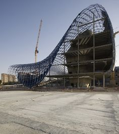 Diseño de la estructura de Heydar Aliyev CENTRO Por Zaha Hadid