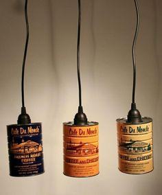 suspensions à fabriquer soi-même en boîtes de conserves et câble avec douille