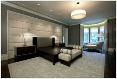 paneled contemporary study grey - Google Search