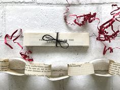 Vintage Sherlock Book Paper Chain Banner DIY Kit 6 ft Book, vintage book, books, book, bookstagram, book lover, book blog, book blogger, confetti, birthday, baby shower, wedding, wedding decor, birthday decor, book pages, book chain, books