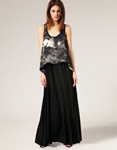 Image 1 of Staple  Snakehips  Layered Tank Maxi Dress