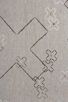 Cross Stitch :: dove grey, charcoal and white linen by Quince: http://www.quincehomewares.com.au/