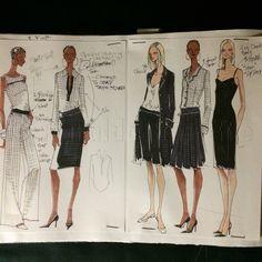 Design sketches from my sketchbook. Resort 2003  While designing for Yansi Fugel Collection.