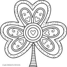 Shamrock Coloring Page for Kids and Adults