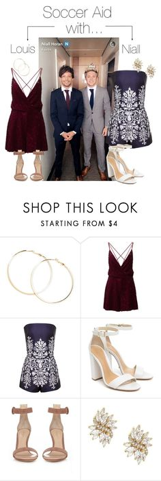 """""""Soccer Aid with: Louis Tomlinson/Niall Horan"""" by werehazza ❤ liked on Polyvore featuring Forever 21, Schutz and Gianvito Rossi"""