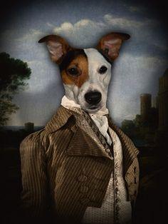 """""""Paris 1790"""" - Philippe Tyberghien. Anthropomorphic dog art."""