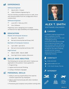 Cool Resume Template Software Engineer Idea free resume for software engineer fresher template word Resume Template Software Engineer. Here is Cool Resume Template Software Engineer Idea for you. √ Software Engineer Resume Samples Sample Resume For D. Cv Resume Template, Resume Design Template, Free Resume, Design Resume, Web Design, Design Trends, Graphic Design, Resume Software, Job Resume