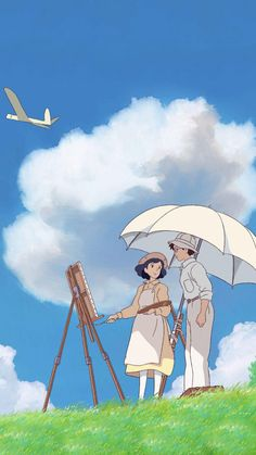 anime phone wallpaper The Wind Rises Phone - Movie Wallpapers, Animes Wallpapers, Cute Wallpapers, Iphone Wallpapers, Iphone Backgrounds, Wallpaper Backgrounds, Desktop, Art Studio Ghibli, Studio Ghibli Movies