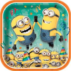 "Despicable Me Minions 9"" Square Party Plates - 8CT"