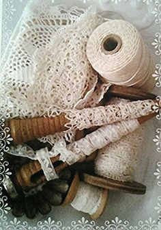 Wooden Spools, Lace