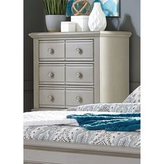 Liberty Summer House II Washed Gray 5 Drawer Chest