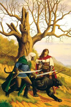 Larry Elmore: Drizzt Do'Urden from the Forgotten Realms. Something about these old images that just bring a pang of nostalgia worth feeling. High Fantasy, Fantasy Rpg, Fantasy Books, Fantasy Characters, Fantasy Paintings, Fantasy Artwork, Drizzt Do Urden, Lotr, Dragon Artwork