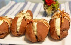 Cocoa Bread filled w/ Creamy Custard ✨