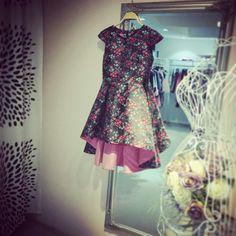 Flower tafta dress