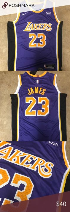 5035e7d3b LeBron James  23 Lakers Purple Jersey Brand new with tag