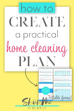 Finally Get Your House Clean in the Time You Have FREE Home Cleaning Planning Kit! The Home Cleaning Planning Kit will help you create a daily, weekly, and monthly cleaning schedule that's tailored to your Bathroom Cleaning Checklist, Monthly Cleaning Schedule, Deep Cleaning Checklist, Clean House Schedule, House Cleaning Tips, Getting Rid Of Clutter, Home Management Binder, How To Plan, Priorities
