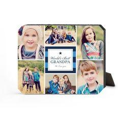 World's Best Stripe Collage Desktop Plaque, Ticket, 8 x 10 inches, DynamicColor