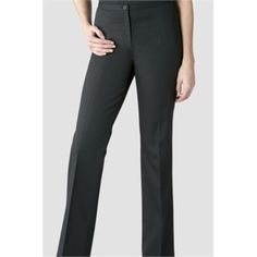 Alexandra's Ladies Bootleg Trousers are a comfortable polyester and cotton blend ladies corporate workwear trouser, and feature a slim, contemporary cut with a flat front, and flared bottoms. Also great as part of a smart casual wardrobe.