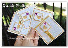 Simple 3x3 note cards by http://www.handstampedstyle.com a simple punch and some sequence makes everything awesome!
