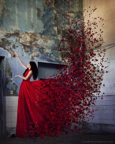 Red autumn by CasaBay_Photo - Clash Of The Pros Photo Contest Levitation Photography, Fantasy Photography, Creative Photography, Photography Tricks, Exposure Photography, Water Photography, Creative Photos, Great Photos, Princess Aesthetic