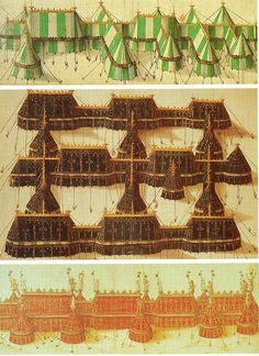 Designs for tents for the Field of Cloth of Gold. One day I'll upgrade to this. One day.