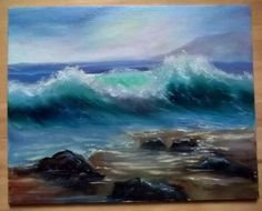 Gail Grant original Oil Painting SEASCAPE impressionism plein air seashore waves #Impressionism